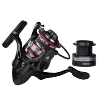 Obei black tena 10KG Drag Carp Fishing Reel with Extra Spool Front and Rear Drag System Freshwater Spinning Reel