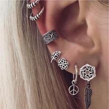 hot deal buy women bohemian stud earrings fine body jewelry set  sunflower heronsbill boho earrings funny jewellery accessories leaf earring