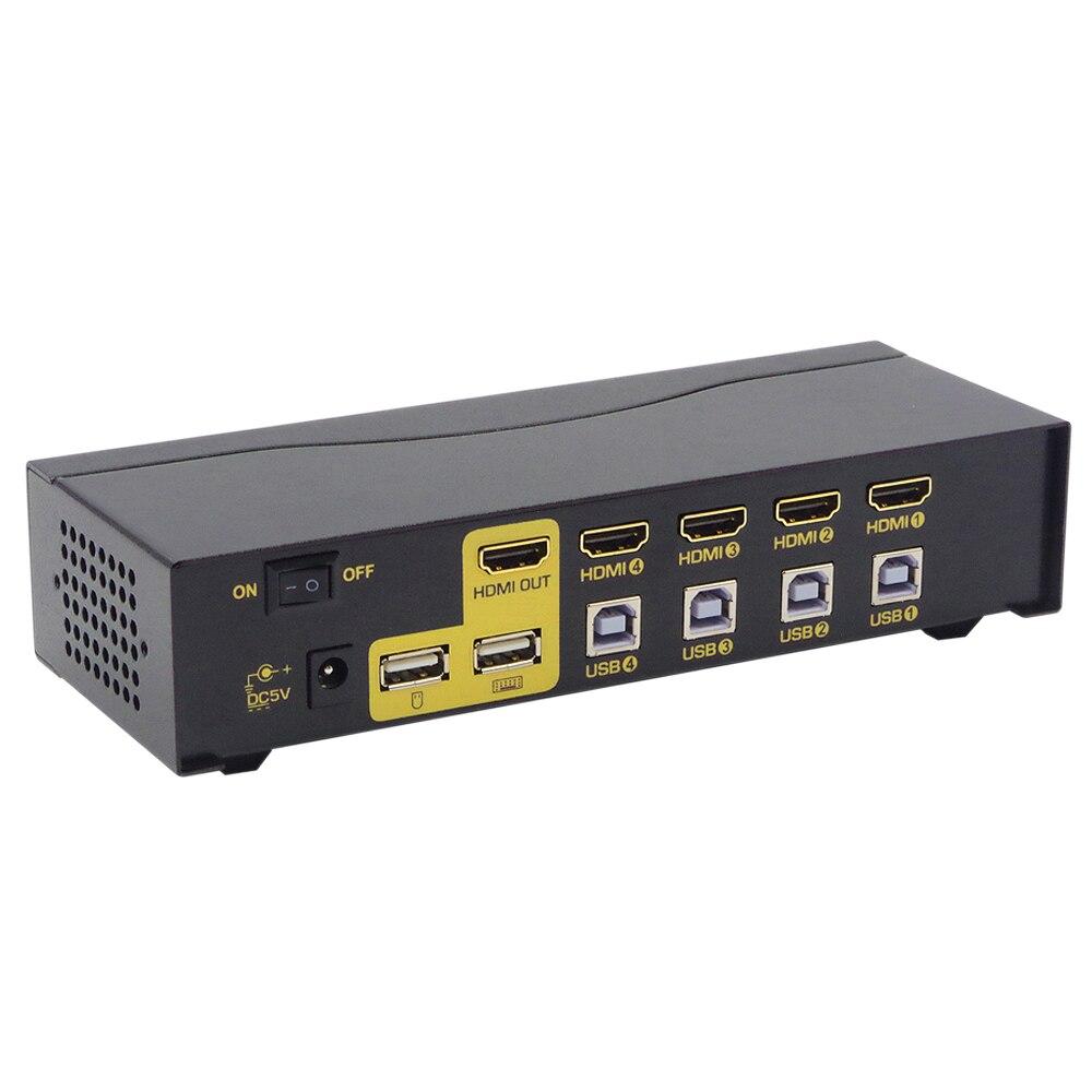 Купить ckl usb hdmi kvm переключатель с 4 портами без кабеля пк монитор