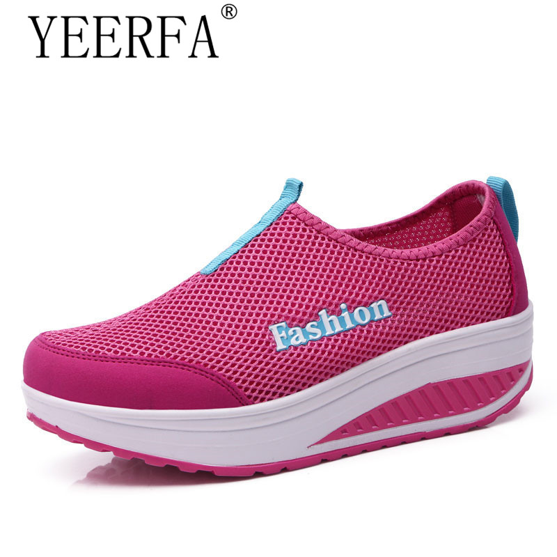 YEERFA Breathable 2017 Summer Women's Mules Clogs Shoes Fashion for Women Swing Wedges Shoes Height Increasing size 35-40 hot height increasing 2016 summer shoes women s casual shoes sport fashion walking shoes for women swing wedges shoes breathable