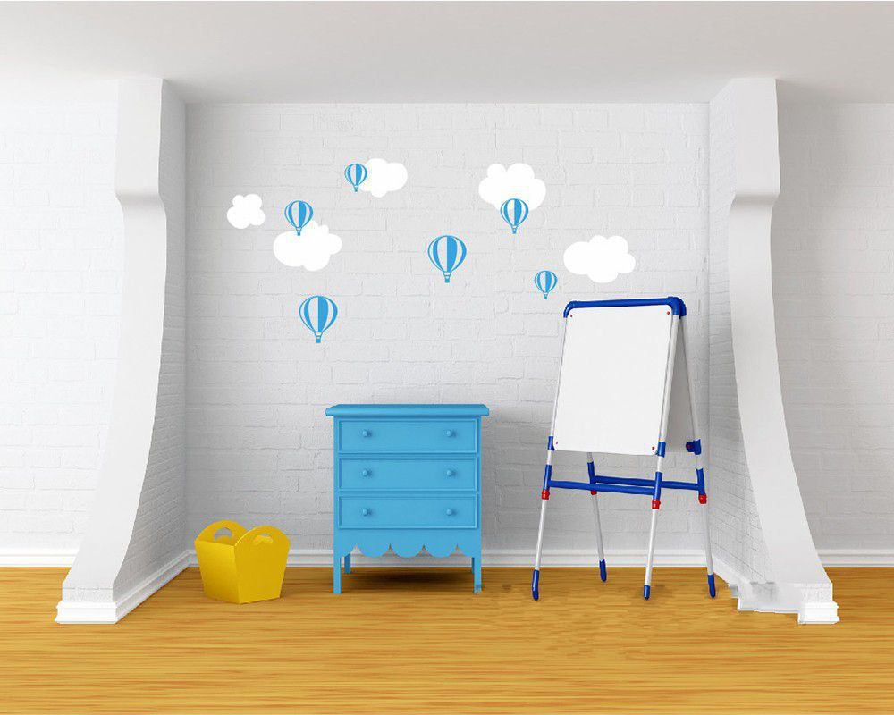 Lovely Hot Air Balloon Wall Sticker Balloon Clouds Baby Nursery Wall Decals  Diy Vinyl Sticker For