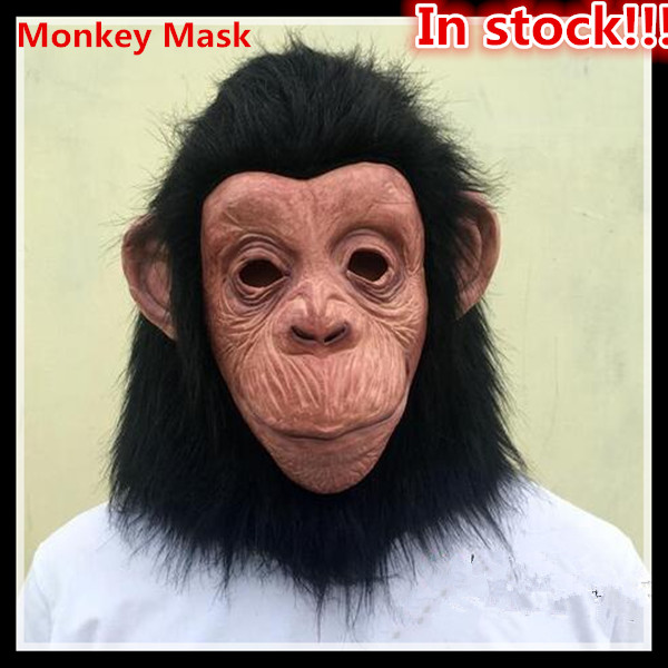 Novelty & Special Use Costumes & Accessories Free Shipping King Kong Gorilla Big Ears Monkey Mask Funny Animal Halloween Masquerade Party Eco Friendly Latex Full Face Mask Buy One Get One Free