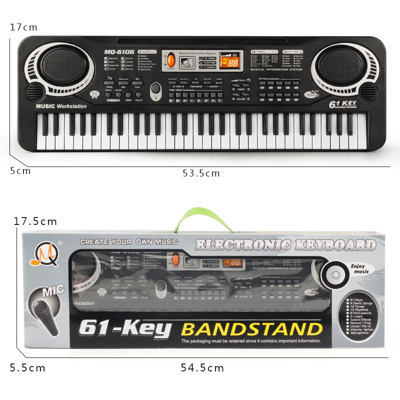 fb7e521e7 Multifunctional Electronic Piano with Microphone Plastic Children 61 Keys  Digital Music Electronic Keyboard Gift Toy-in Toy Musical Instrument from  Toys ...