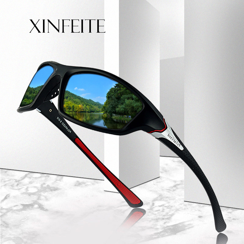 Xinfeite Sunglasses Classic High Quality PC Frame HD Lens Polarized UV400 Outdoor Sports Sun Glasses For Men Women X431 gorros femininos