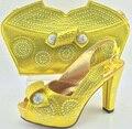 Zapatos con bolso a juego nuevo diseño de las señoras de zapatos a juego italiano y bah italia zapato de tacón alto y bolso para paryt zapato y conjunto de bolsas