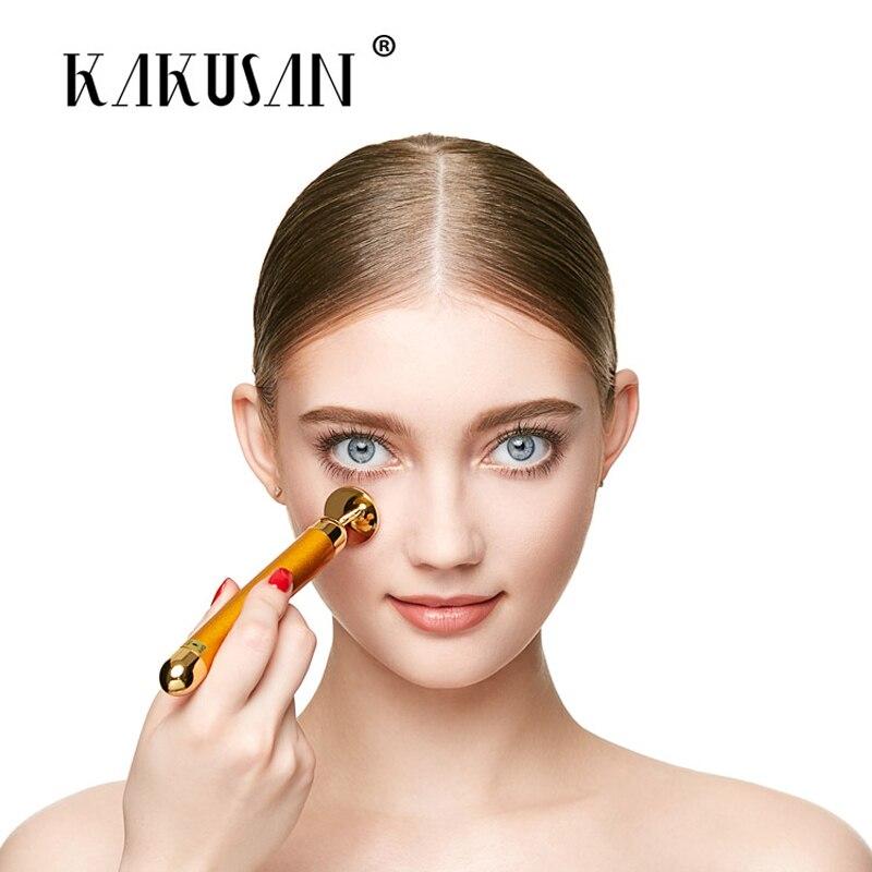 24k gold beauty bar face skin care tools face massage roller facial massage roller