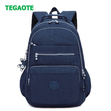 TEGAOTE Brand Nylon Backpack Women School Backpack for Teenage Girls Mochila Wat