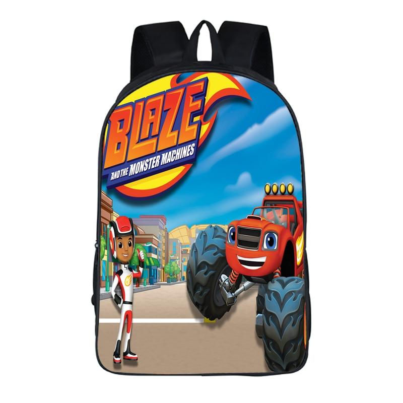 a86f148e862 16 Inch Blaze Monster Machines Cars Backpack For Teenagers Boys Girls School  Bags Women Men Travel Bag Children Backpacks