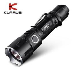 Новый KLARUS XT11GT CREE XHP35 HI D4 LED 2000 лм 4 режима тактический светодиодный фонарик + Бесплатный usb-порт и аккумулятор 18650 для самообороны