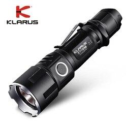 Nuovo KLARUS XT11GT CREE XHP35 HI D4 LED 2000 Lm 4 Modalità Tattica Ha Condotto La Torcia Elettrica + Porta USB Libera e 18650 Battey per Autodifesa