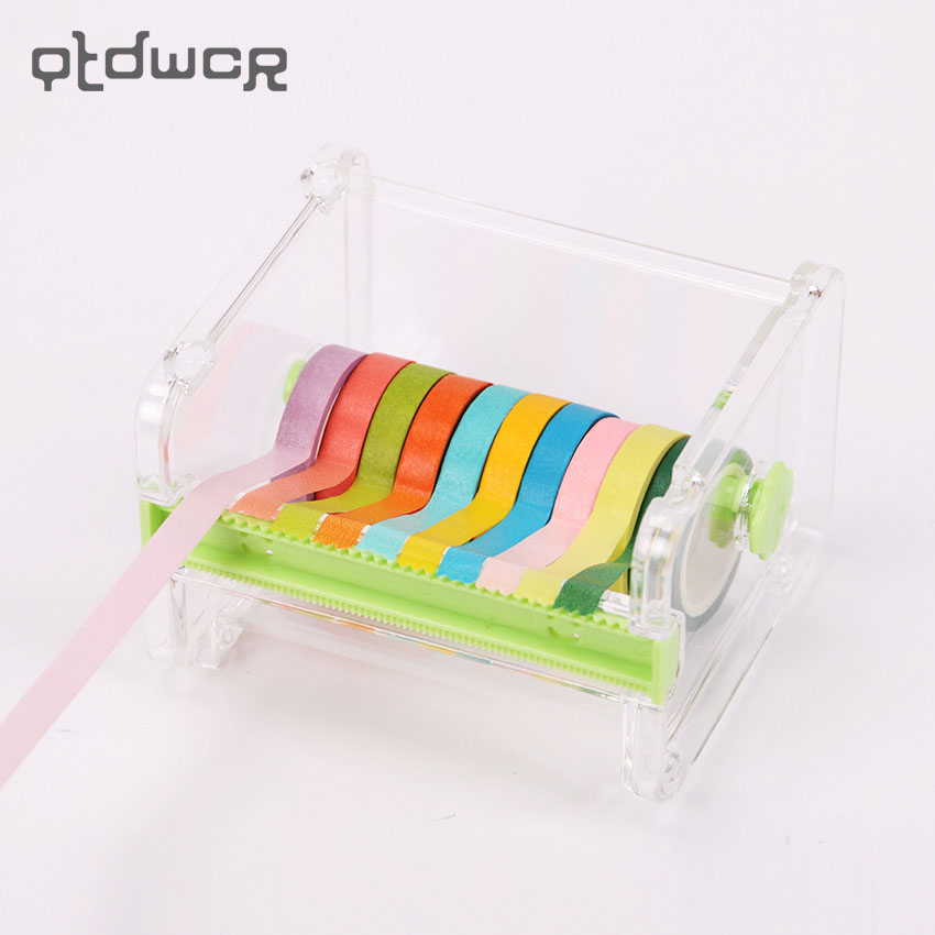 1PC Japanese Stationery Masking Tape Cutter Paper Washi Tape Storage Organizer Cutter Office Tape Dispenser Office Supplies