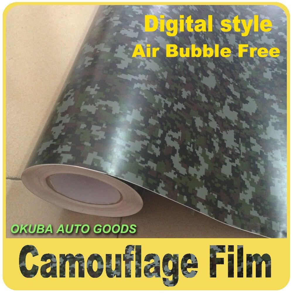 Numérique Style Camouflage Vinyle 30 m Autocollant De Voiture D'enveloppe de Film Pour Voiture Stickers