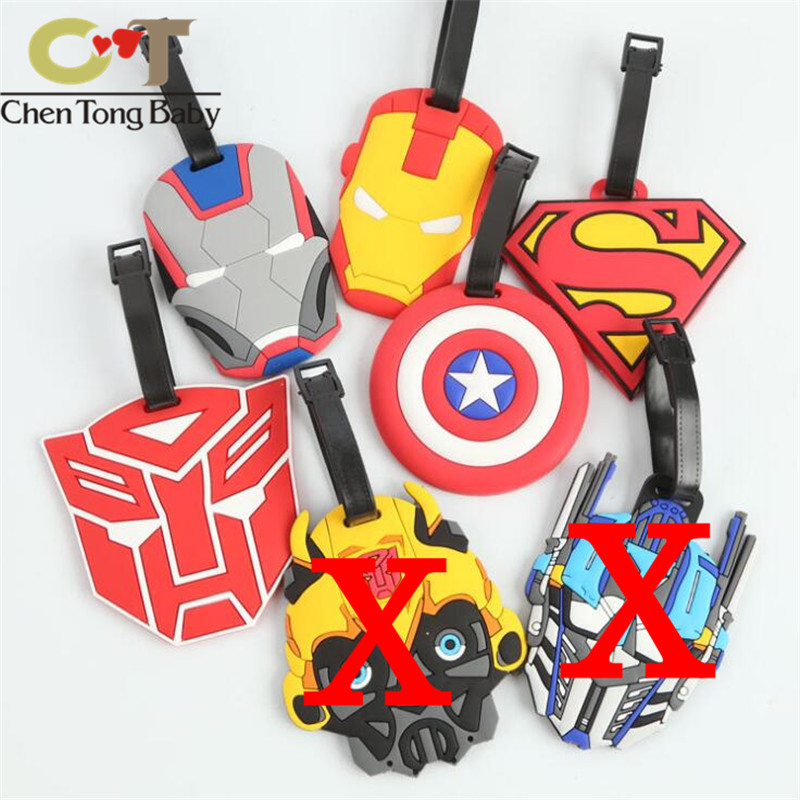 Heroes Avengers Iron Man ornaments decorative Action Figures vinyl doll small Luggage tag WJ01