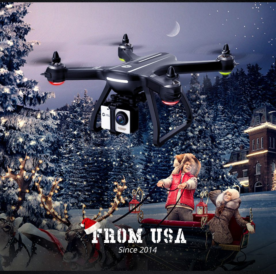 [USA EU Stock]Holy Stone HS700 1000m Range mins Flight Brushless Motor 5GHz 400m Wifi GPS FPV FHD 19*1080P 2800mAh GPS Drone 10