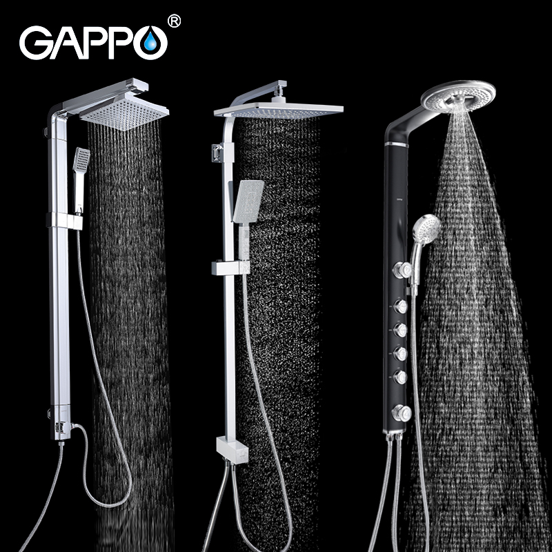 GAPPO Shower System Bathroom Shower Faucet Bath Shower Mixer Set Rain Shower Head Bathtub Faucet Taps Water Faucet Mixer