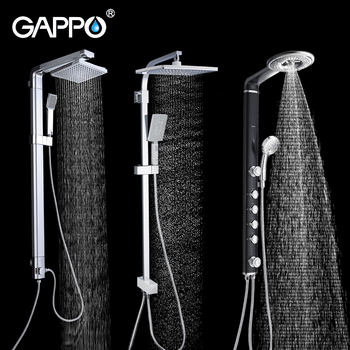 GAPPO shower system bathroom shower faucet bath shower mixer set rain shower head bathtub faucet taps water faucet mixer frap digital bathroom shower mixer with display bath shower faucet system set wall mount mixer digital display shower panel