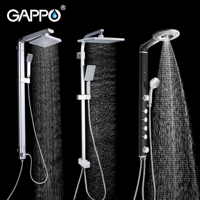 GAPPO sistema de chuveiro do banheiro banho de chuveiro torneira conjunto misturador do chuveiro de chuva cabeça de chuveiro torneira da banheira torneiras torneira de água mixer