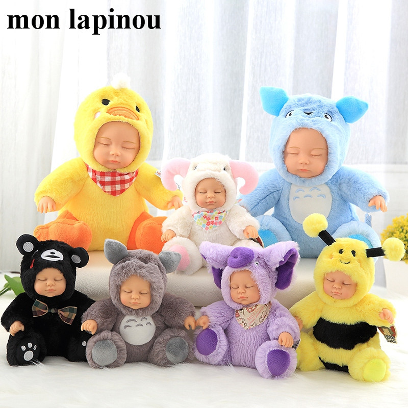 Kawaii Baby Dolls Plush Animal Kids Toys Little Baby Cosplay Action Figure Totoro Toy Christmas Gift High Quality Doll