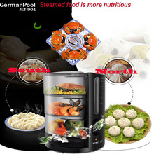 electric steamer high efficiency electric food steamer with safety function 360 degree transparent cover jet901