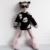 2016 CRIANÇAS de Inverno Da Marca Camisola Do Bebê Meninas Meninos Preto Branco Lábios Malha Outono Cardigan Outfits Bebê Roupas meninas camisola