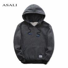 Asali marke clothing neue mode für männer sweatshirt winter dicke hoodies baumwolle hoodie fleece mäntel strickjacken herren sweatshirts y19