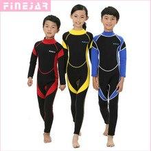 2,5 мм неопреновые гидрокостюмы для детей, купальные костюмы, костюмы для дайвинга с длинными рукавами для мальчиков и девочек, для серфинга, для детей, рашгарды, трубка, 1 предмет, h1