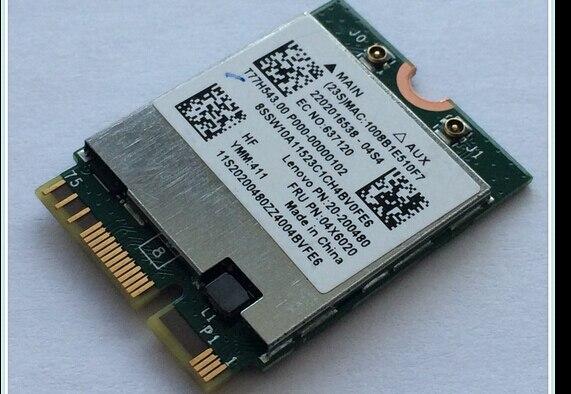 BCM94352Z BCM94352 FRU: 04X6020 NGFF 867 Mbps 802.11AC Bluetooth 4.0 carte Wlan pour IBM Y50-70-80/Y70-70-80 YOGA2