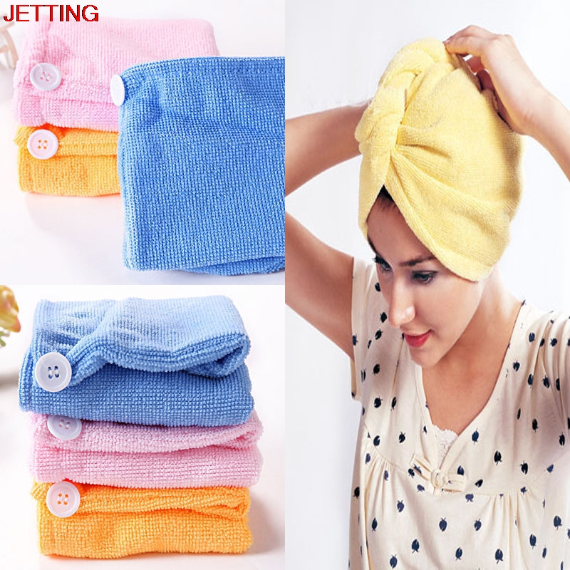 Bathing Absorbent Microfiber Towel Turban Hair-Drying Shower Caps Bathrobe Hat Multi Colors Hair Wraps For Women Quick-drying