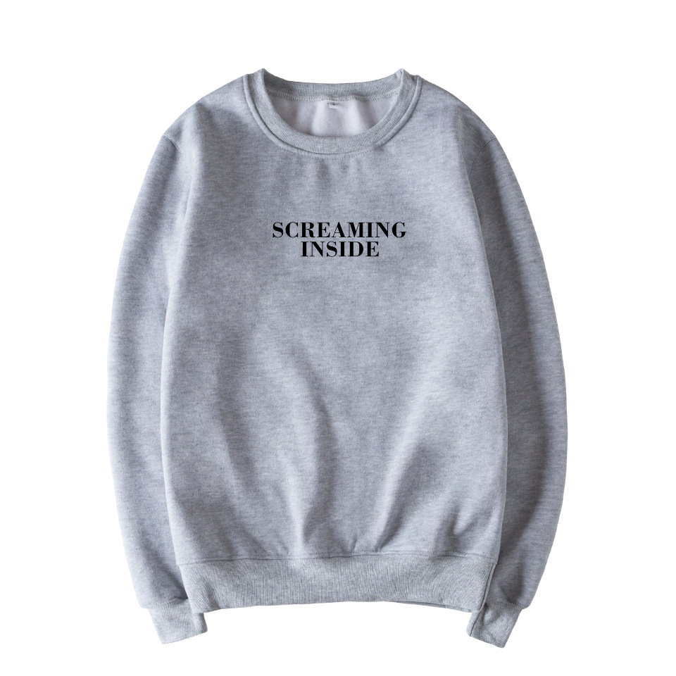 Skuggnas Screaming Inside Graphic Print Unisex Sweatshirt Instagram Jumper Long Sleeve Fashion Casual Tops Sweatshirt Drop ship-in Hoodies & Sweatshirts from Women's Clothing on AliExpress - 11.11_Double 11_Singles' Day 1