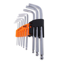 9PCS Wrench Set Durable Reinforced Toughen Metric Ball Ended Hex Allen Key Wrenchs Hand Tools high quality