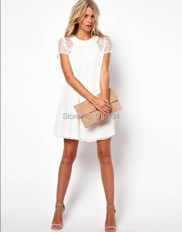 2015 Sale Woman Summer Dress White Casual Dress Trendy Clothes ...