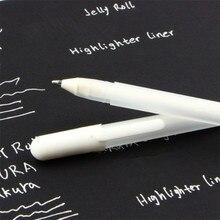 Белые чернила, 0,8 мм, гелевая ручка, унисекс, ручка, подарок для детей, канцелярские принадлежности, офисные принадлежности для обучения, школьные принадлежности