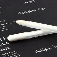 White Ink 0.8MM Gel Pen Unisex Pen Gift For Kids Stationery Office Learning student School Supplies