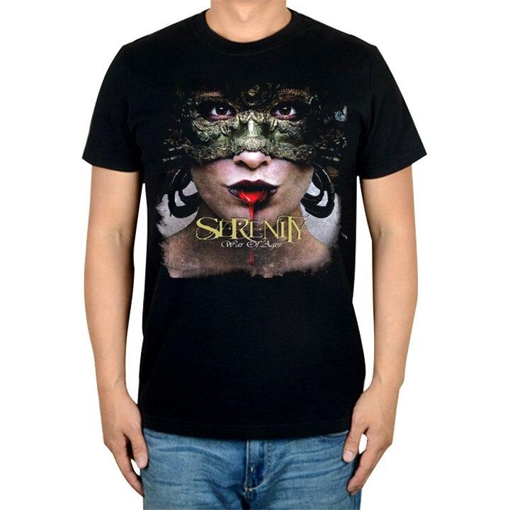 2 вида конструкций прохладный старинные Serenity рок брендовая футболка хлопок панк фитнес Хардрок металлический сексуальный черный готический рубашки Кружево скейтборд