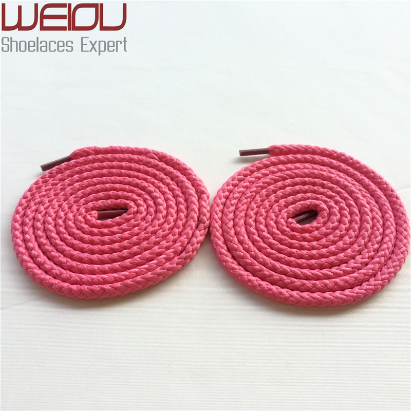 (50pairs/Lot)Weiou sports Round Rope Shoelaces Polyester unique shoe laces trainer laces styles for shoes garment accessory