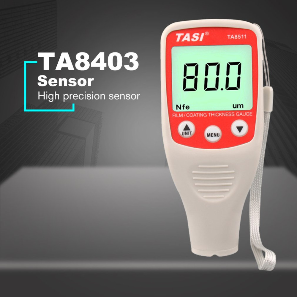 TA8511 Digital Mini Coating Thickness Gauge Car Paint Thickness Meter Paint Thickness tester LCD Thickness Gauge calibration zero plate substrate standard foil set coating thickness gauge meter