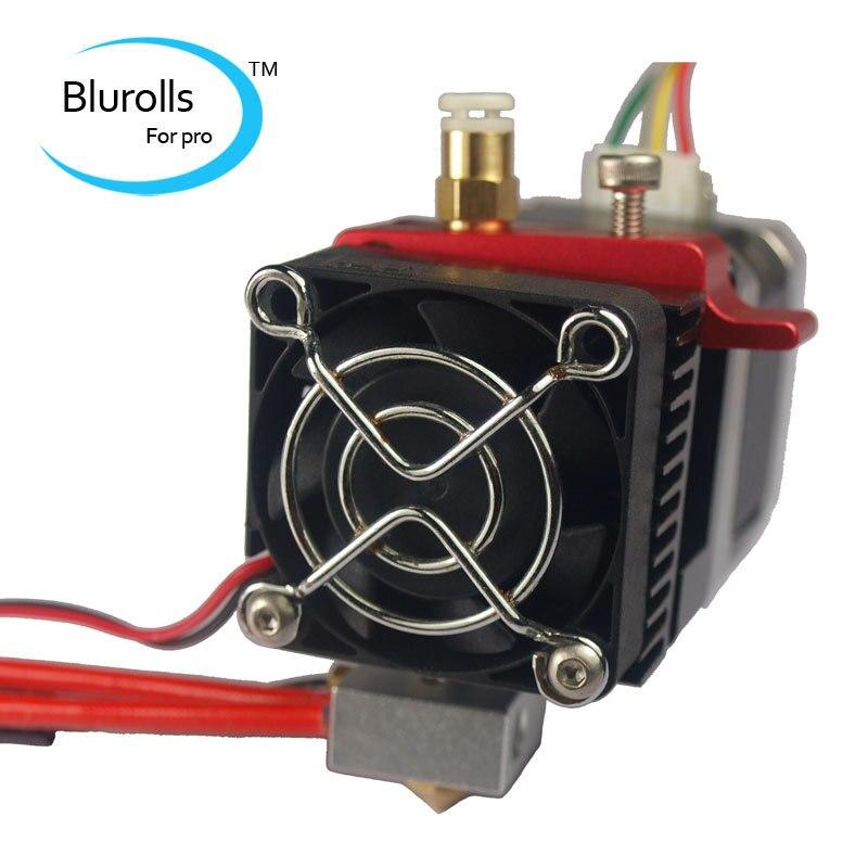Pièces d'imprimante 3d reprap réplicateur MK8 extrudeuse à entraînement direct + kit hotend/ensemble 1.75mm extrudeuse compacte en alliage d'aluminium