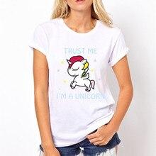 MYNOVAZ Cute Women T-Shirt Printing Animal Fashion Design Cool T-shirt O-Neck Short Sleeve Pocket Dabbing Unicorn Tops Plus Size