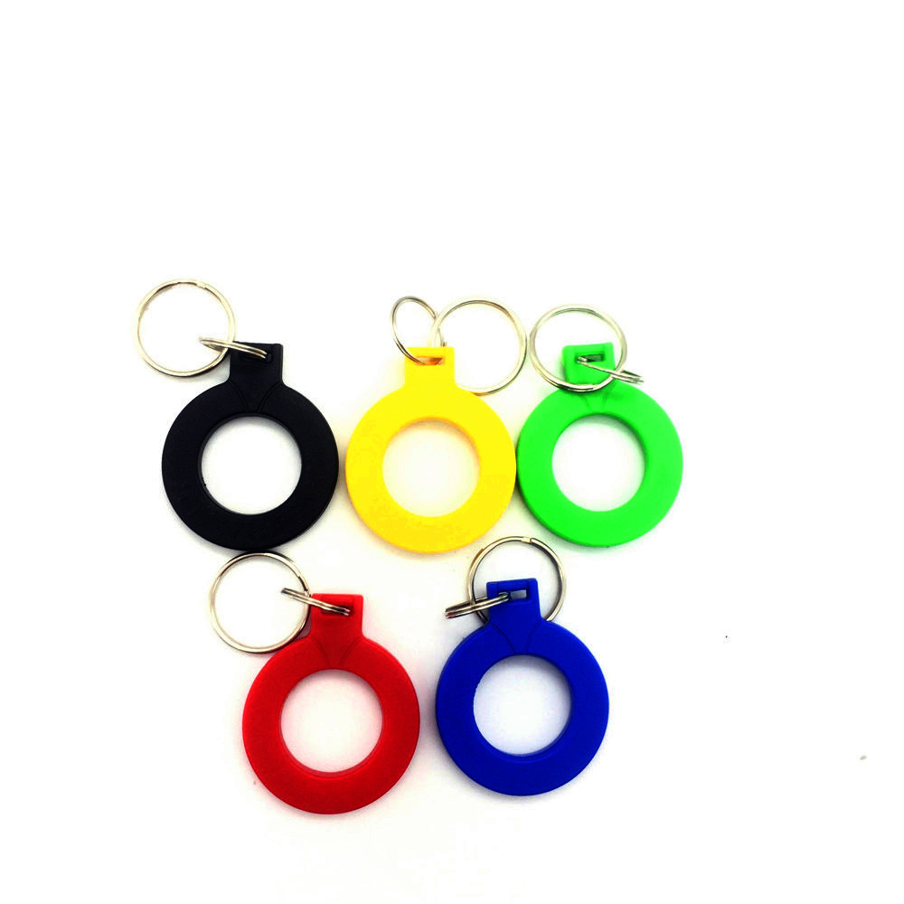 1Pcs EM4100 Tk4100 Badge 125khz ID Keyfob RFID Tag Tags Llaveros Llavero Porta Chave Card Sticker Key Fob Token Ring