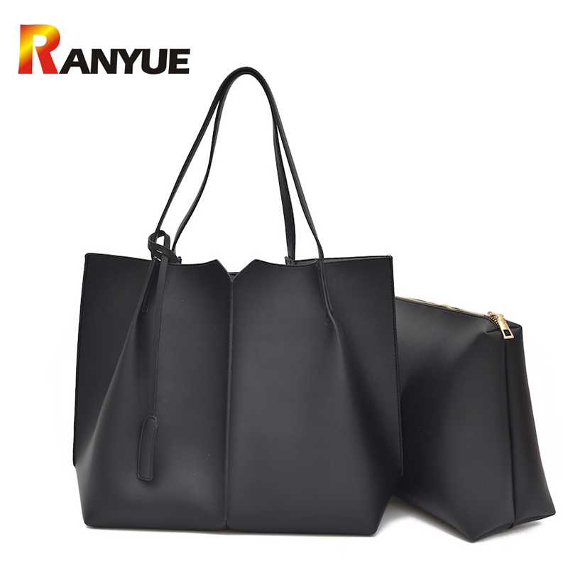 Fashion Women Handbags 2 Set/pcs Pu Leather Shoulder Crossbody Bags For Women Composite Bag Large Capacity Casual Tote Bags Sac