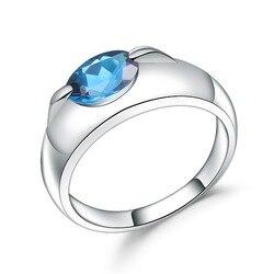 Женское кольцо gemb's BALLET, простое овальное кольцо из серебра 925 пробы с натуральным топазом, карат