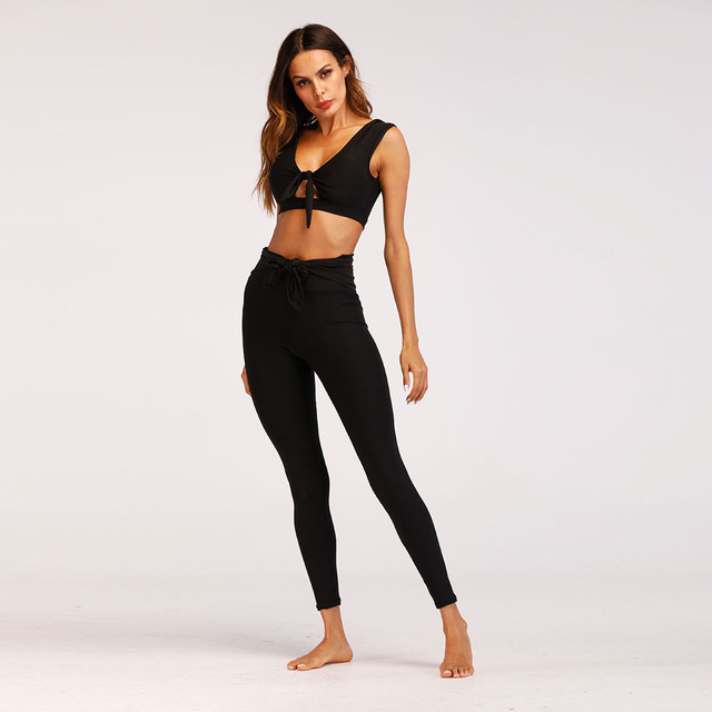 02614200d46 2018 Women Clothes Fashion Solid Tracksuit Sexy Slim Fitness Vest Crop Top  Hoodies High Waist Elastic Pant Workout Suit Set