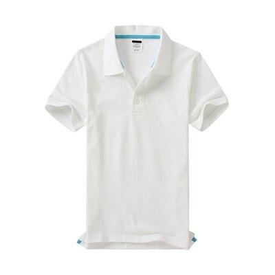Черные, синие, белые, серые, желтые женские рубашки поло с коротким рукавом, женские повседневные рубашки поло, свободные женские рубашки больших размеров, хлопковые рабочие Топы - Цвет: Белый