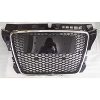 A3 Modified RS3 Style Chrome Frame Front Engine Grill Grids for Audi A3 S3 RS3 S Line 2009 2010 2011 2012