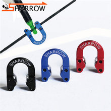 Ship From USA Warehouse Archery Aluminum D Loop Release Bowstring Safety Release Metal For Compound Bow Shooting Accessories(China)