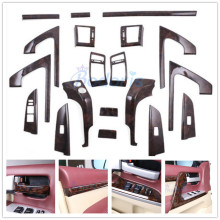 3 Color Interior Silver Wooden Color Trim Panel Cover Car Styling Chrome 2008 2015 For Toyota LC Land Cruiser 200 Accessories