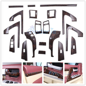 Image 1 - 3 Color Interior Silver Wooden Color Trim Panel Cover Car Styling Chrome 2008 2015 For Toyota LC Land Cruiser 200 Accessories
