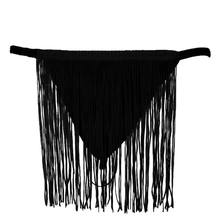 Men Sexy Lingerie G-String T-Back Solid Color See Through Underwear Long Fringe Tassels Briefs Low Waist Bulge Pouch Thongs(China)