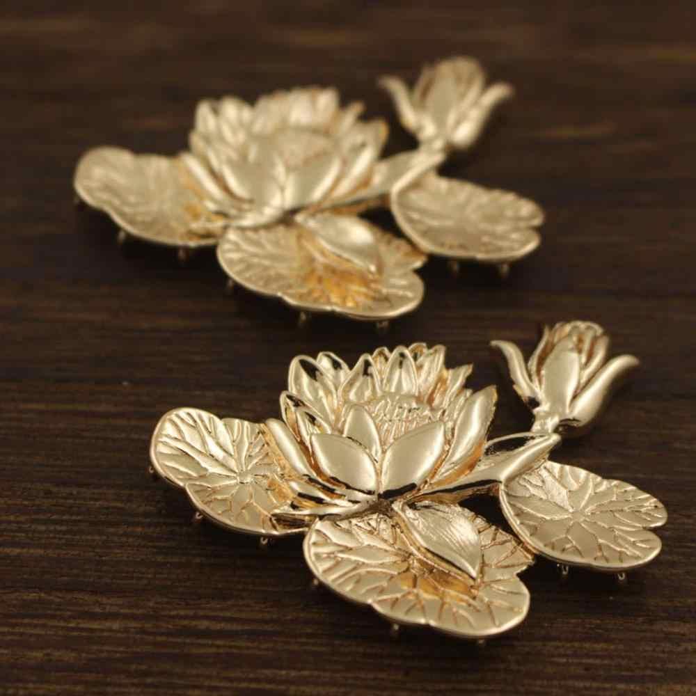 DIYthinker Lotus Leaf Lotus Flower Flower Plant Necklace Antique Guitar Jewelry Music Pendant