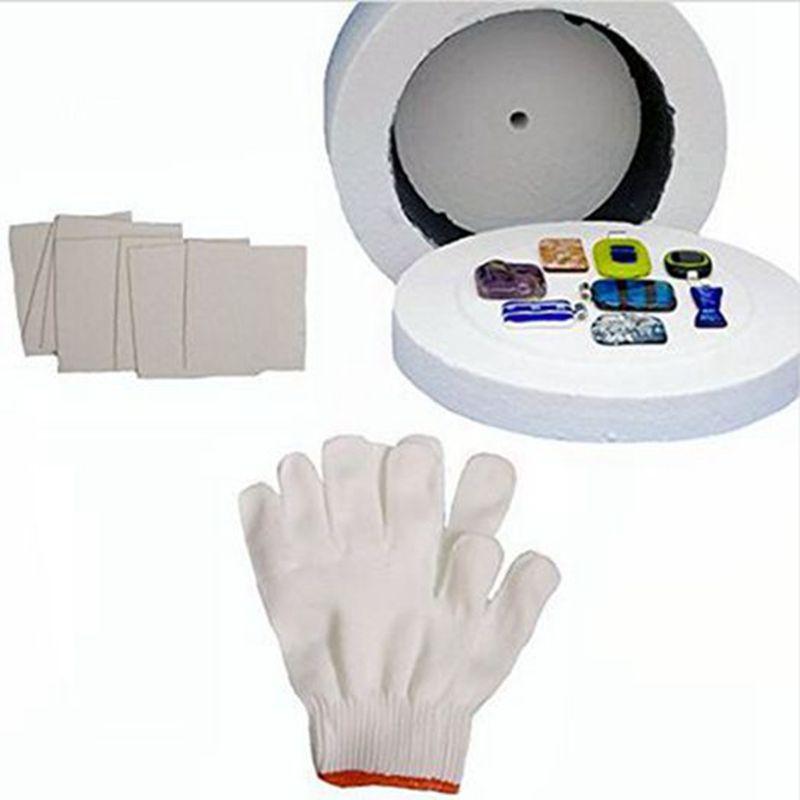 Cheapest 3pcs Large Kiln kits 1 Large Microwave Kiln 1 Pair of Gloves and 10 Sheets